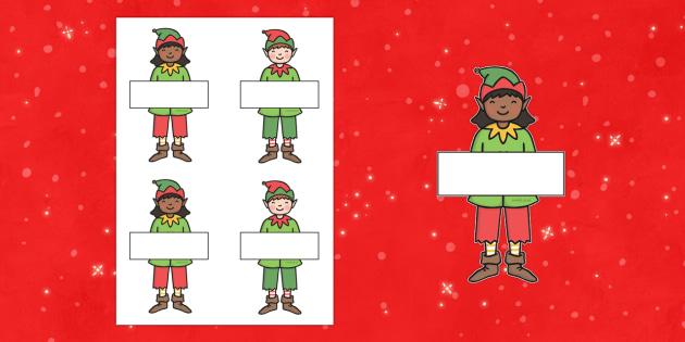 Editable Elves - Christmas, xmas, elf, elves, editable, tree, advent, nativity, santa, father christmas, Jesus, tree, stocking, present, activity, cracker, angel, snowman, advent , bauble