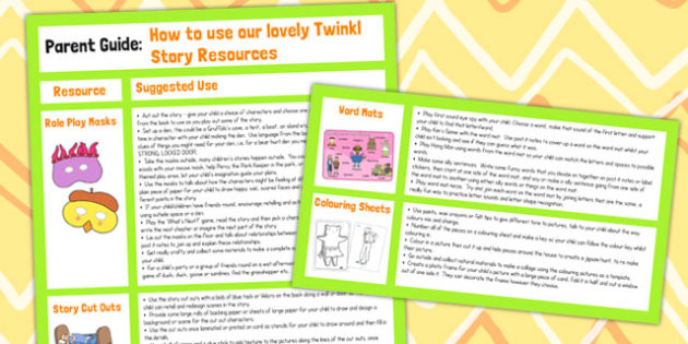 Story Sack Guide for Parents - guide, parents, story, resources