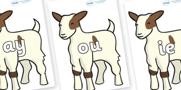 Phase 5 Phonemes on Baby Goats - Phonemes, phoneme, Phase 5, Phase five, Foundation, Literacy, Letters and Sounds, DfES, display