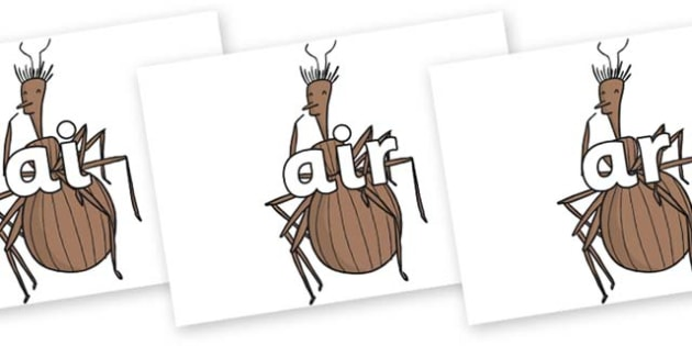 Phase 3 Phonemes on Miss Spider to Support Teaching on James and the Giant Peach - Phonemes, phoneme, Phase 3, Phase three, Foundation, Literacy, Letters and Sounds, DfES, display