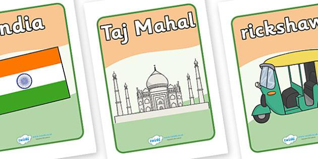 India Display Posters - India, bhangra, elephant, sari, display, poster, sign, peacock, cobra, curry, rickshaw, snake charmer, Taj Mahal, Mother Theresa, temple, Buddhism, Buddha, Hinduism, Sikhism, Ganseh, lotus flower, religion