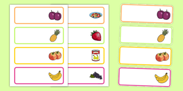 Fruit Salad Editable Drawer Peg Name Labels - olivers fruit salad, fruit salad, drawer, peg, name, labels, display