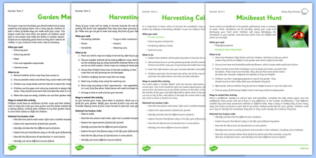Gardening Club Summer 2 Activity Pack