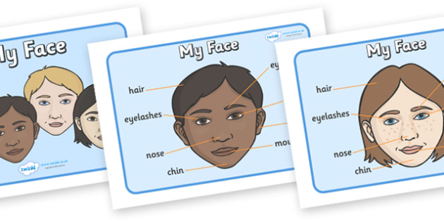 My Face Display Posters - face, features, eye, mouth, lips, ourselves, all about me, emotions, feelings, face, faces