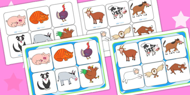 Matching Mat SEN to Support Teaching on Farmyard Hullabaloo - farm, matching mat, SEN