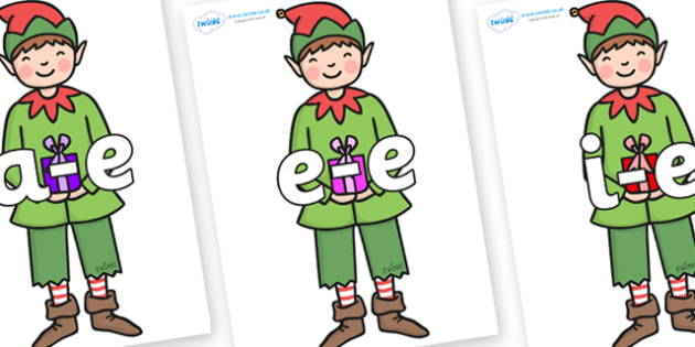 Modifying E Letters on Green Elf (Boy) - Modifying E, letters, modify, Phase 5, Phase five, alternative spellings for phonemes, DfES letters and Sounds