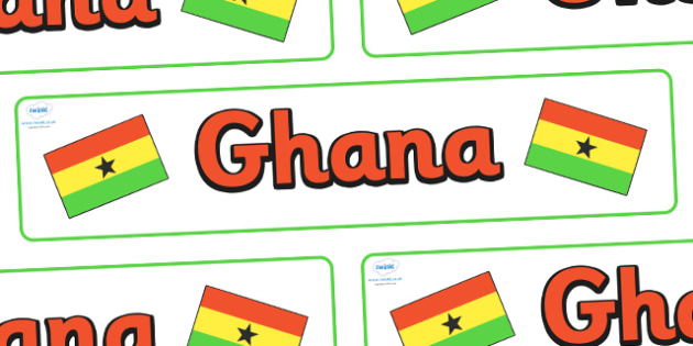 Ghana Display Banner - Ghana, display, banner, poster, sign, Africa, country, world, African, Ghanaian, Accra