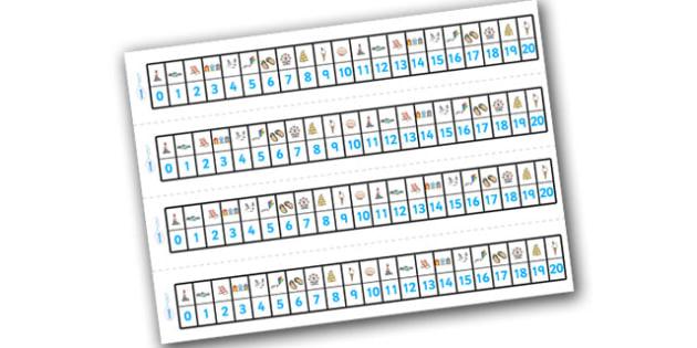 Seaside Number Track (1-20) - Seaside, Summer, Maths, Math, number track, numbertrack, Counting, Numberline, Number line, Counting on, Counting back, holidays, water, tide, waves, sand, beach, sea, sun, holiday, coast