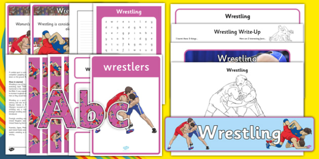 The Olympics Wrestling Resource Pack - wrestling, Olympics, Olympic Games, sports, Olympic, London, pack, resource, resources, 2012, activity, Olympic torch, medal, Olympic Rings, mascots, flame, compete, events, tennis, athlete, swimming