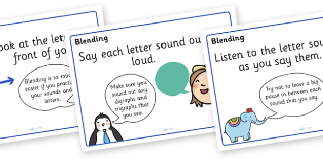 Blending Posters - blending, literacy, english, words, sounds