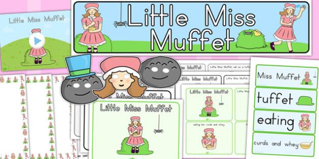 Little Miss Muffet Resource Pack - australia, story, muffet