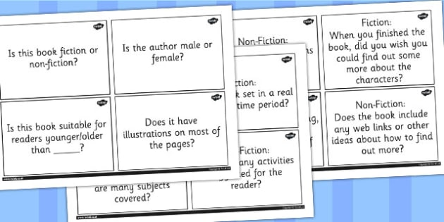 What Book am I? Suggested Closed Question Cards - reading, book, read