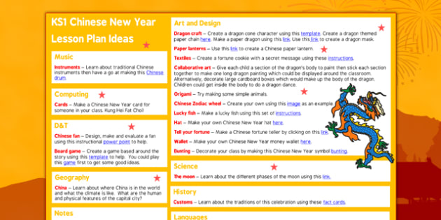 Chinese New Year KS1 Lesson Plan Ideas - chinese new year, lesson