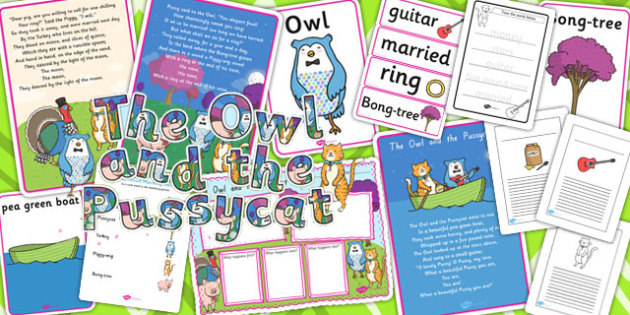 The Owl and the Pussycat Story Sack - stories, story books, poems