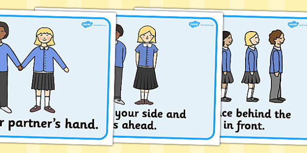 Good Lining Up Display Posters - Good manners, good behaviour, class management, behaviour management, SEN, polite, indoor voice