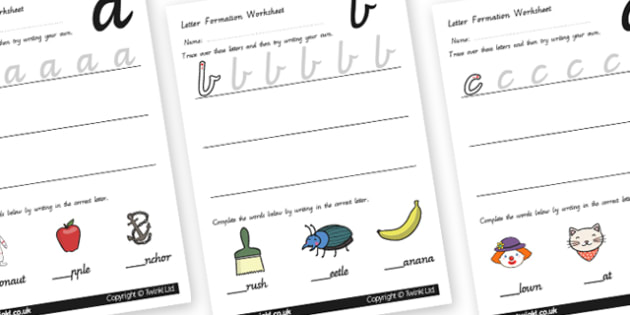 Letter Formation Worksheets - letters, formation, writing, write