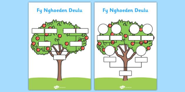 Fy Nghoeden Deulu - welsh, wales, my family tree, family tree, family, tree