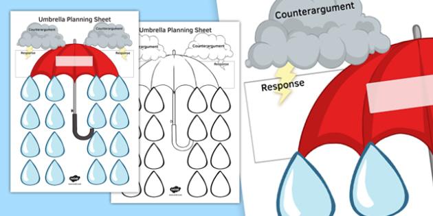 Umbrella Planning Sheet Colour - umbrella, planning, sheet, colour