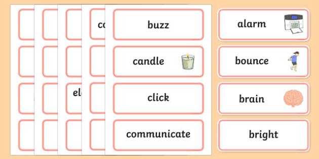 Look, Listen Word Wall Display Cards - australia, Australian Curriculum, Look!Listen!, science, Year 1, word wall, display