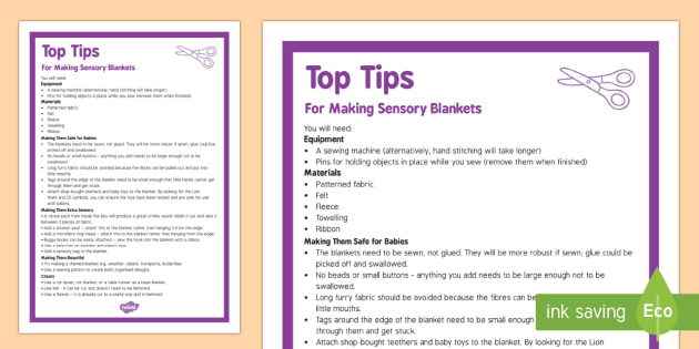 Sensory Blanket Top Tips - Sensory, blanket, baby, babies, tummy time, DIY, sewing, making, craft