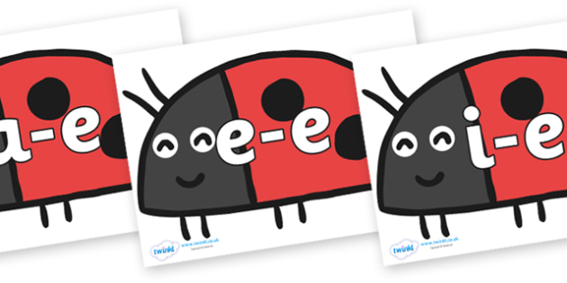 Modifying E Letters on Ladybird to Support Teaching on What the Ladybird Heard - Modifying E, letters, modify, Phase 5, Phase five, alternative spellings for phonemes, DfES letters and Sounds