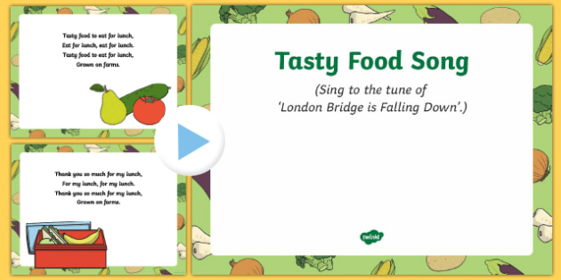Tasty Food Song PowerPoint