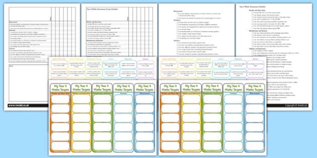 Year 4 Maths Assessment Pack - math, numeracy, assessment, assess