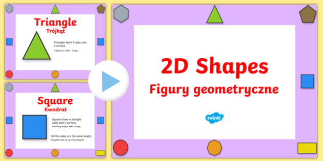 2D Shape Properties Powerpoint Polish
