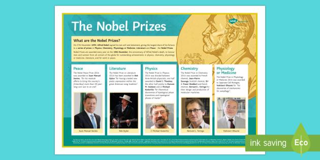 The 2016 Nobel Laureates Poster