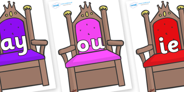 Phase 5 Phonemes on Thrones - Phonemes, phoneme, Phase 5, Phase five, Foundation, Literacy, Letters and Sounds, DfES, display