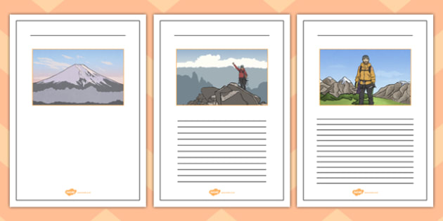 Magnificent Mountains Writing Frames - magnificent, mountains