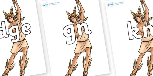 Silent Letters on Hermes - Silent Letters, silent letter, letter blend, consonant, consonants, digraph, trigraph, A-Z letters, literacy, alphabet, letters, alternative sounds