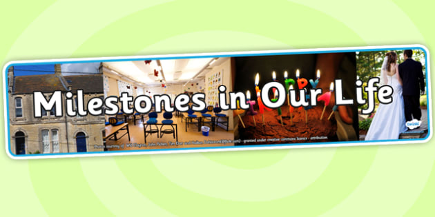 Milestones in Our Life Photo Display Banner - milestones in our life, display banner, banner, display, banner for display, display header, header for display