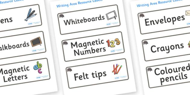 Hippo Themed Editable Writing Area Resource Labels - Themed writing resource labels, literacy area labels, writing area resources, Label template, Resource Label, Name Labels, Editable Labels, Drawer Labels, KS1 Labels, Foundation Labels, Foundation