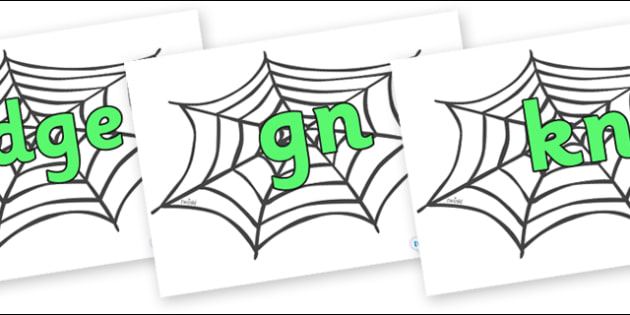 Silent Letters on Spiders Web - Silent Letters, silent letter, letter blend, consonant, consonants, digraph, trigraph, A-Z letters, literacy, alphabet, letters, alternative sounds