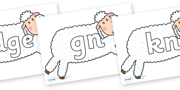 Silent Letters on Hullabaloo Sheep to Support Teaching on Farmyard Hullabaloo - Silent Letters, silent letter, letter blend, consonant, consonants, digraph, trigraph, A-Z letters, literacy, alphabet, letters, alternative sounds