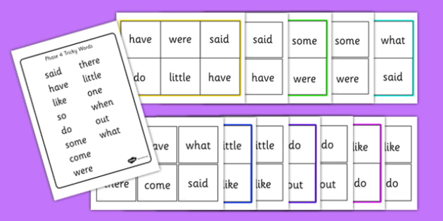 Phase 4 Tricky Word Bingo - Word Bingo, Phase 4, Phase four, Tricky Words, High Frequency Words, Letters and Sounds, DfES Letters and Sounds, Foundation bingo