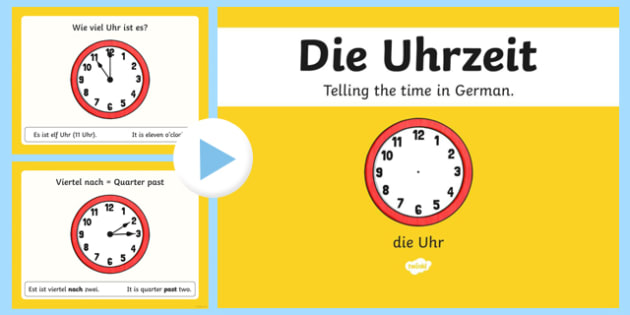 Telling the Time 2 German PowerPoint