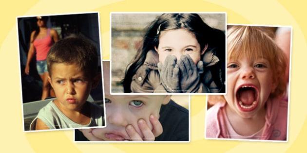 Emotions Photo Clip Art Pack - Feelings, Photos, Displays, Visual