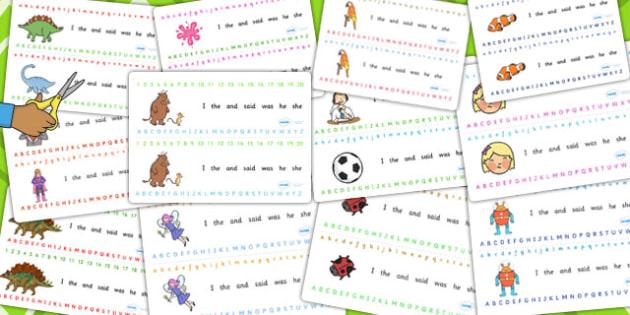 Alphabet Strip Variety Pack - packs, letters, letter, strips