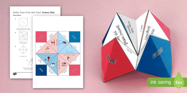 Faire Perfect Tense Fortune Teller - French, Fortune Teller, faire, perfect, tense, conjugation,French