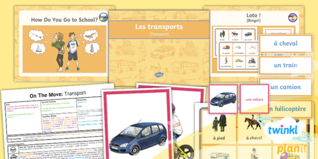 PlanIt - French Year 4 - On the Move Lesson 1: Transport Lesson Pack - french, languages, transport,vehicles, travel