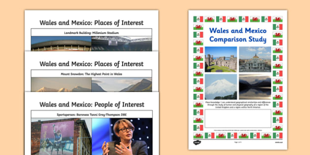 Wales and Mexico Comparison Study Research Booklet - wales, mexico, comparison, study, research, booklet