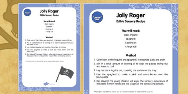 Jolly Roger Edible Sensory Recipe