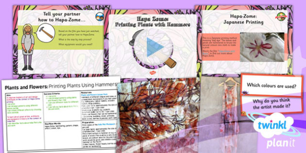 PlanIt - Art UKS2 - Plants and Flowers Lesson 3: Printing Plants Using Hammers Lesson Pack