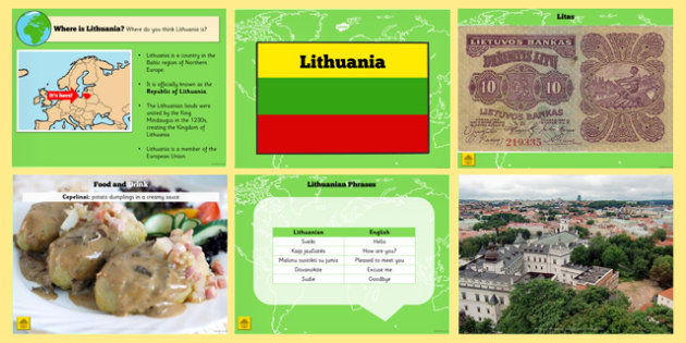 Lithuania Information PowerPoint - lithuania, information, info