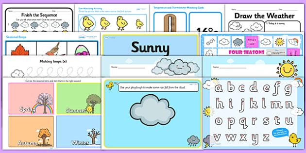 Weather Activity Pack - season, weather activities, weather games