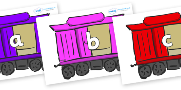 Phase 2 Phonemes on Carriages - Phonemes, phoneme, Phase 2, Phase two, Foundation, Literacy, Letters and Sounds, DfES, display