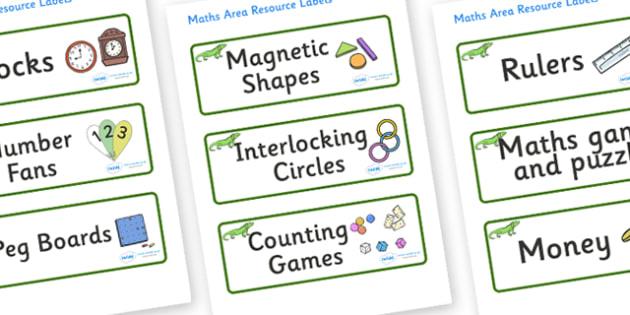 Iguana Themed Editable Maths Area Resource Labels - Themed maths resource labels, maths area resources, Label template, Resource Label, Name Labels, Editable Labels, Drawer Labels, KS1 Labels, Foundation Labels, Foundation Stage Labels, Teaching Labe
