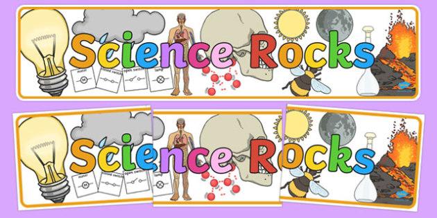 Science Rocks Display Banner - science, rocks, display, banner